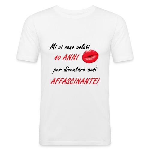40 ANNI donna - Maglietta aderente da uomo