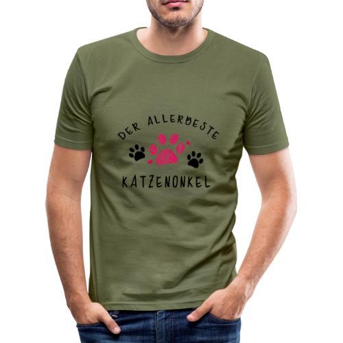 Der allerbeste Katzenonkel - Männer Slim Fit T-Shirt