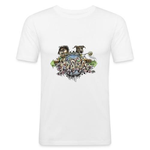 Mainbattle mind21 - Männer Slim Fit T-Shirt