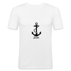 Sicks Logo Design - Männer Slim Fit T-Shirt