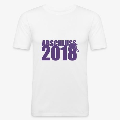 Abschluss 2018 purple - Männer Slim Fit T-Shirt