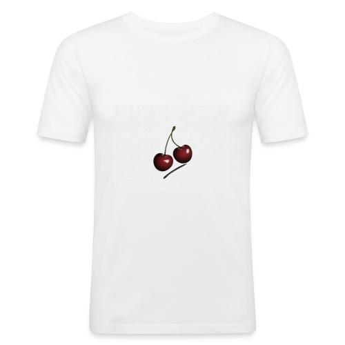 Kirsche - Männer Slim Fit T-Shirt