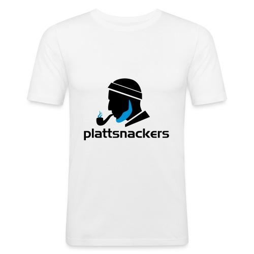 Plattsnackers mit Text - Männer Slim Fit T-Shirt