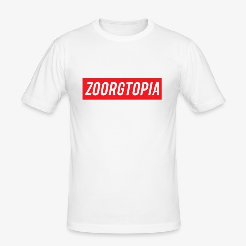 Zoorg Red Background - Men's Slim Fit T-Shirt