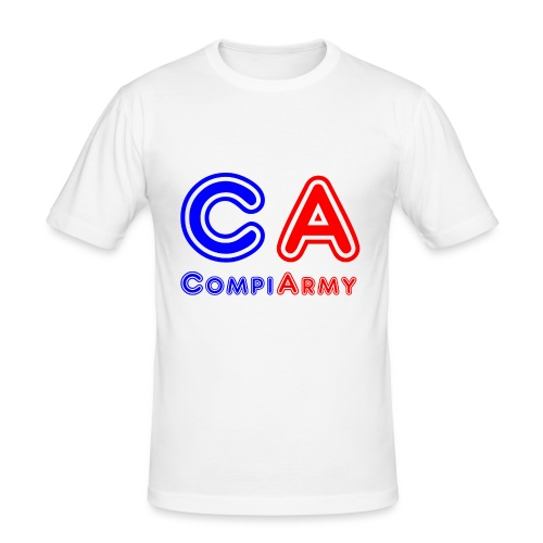 CompiArmy Design | bit.ly/compiarmyyt - Männer Slim Fit T-Shirt