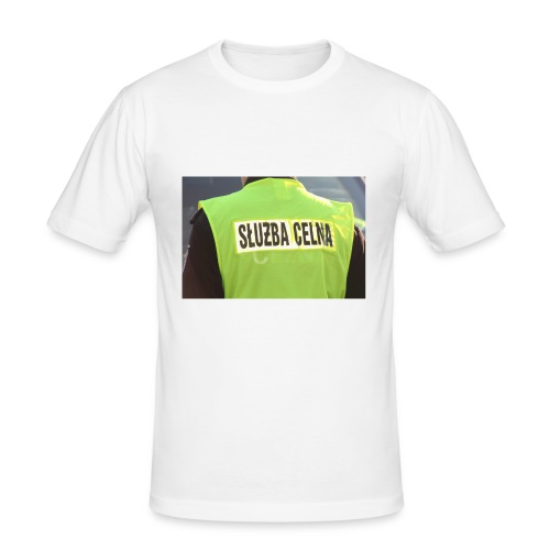 policja - Obcisła koszulka męska