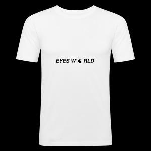 Eyes world look - Tee shirt près du corps Homme