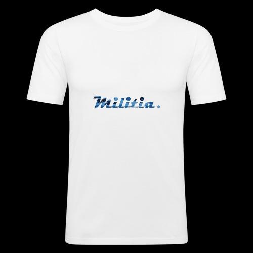blue militia - Men's Slim Fit T-Shirt