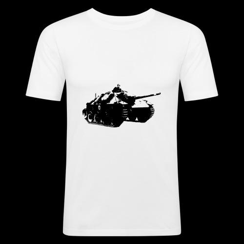 gehetzter Panzer - Männer Slim Fit T-Shirt
