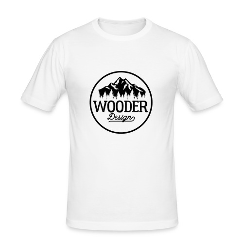 Wooder Design - Männer Slim Fit T-Shirt