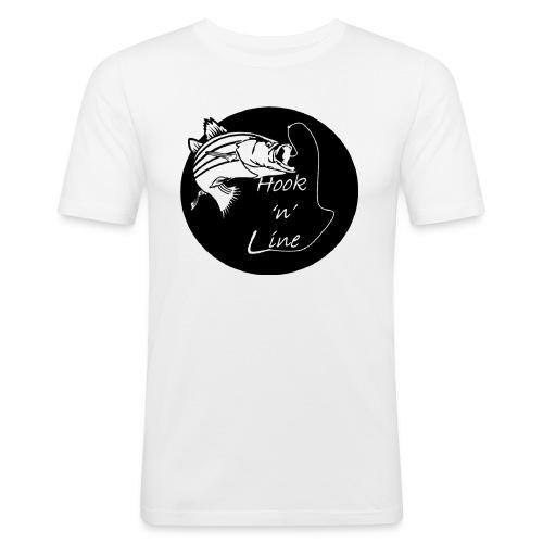 Hooknline original logo - Men's Slim Fit T-Shirt