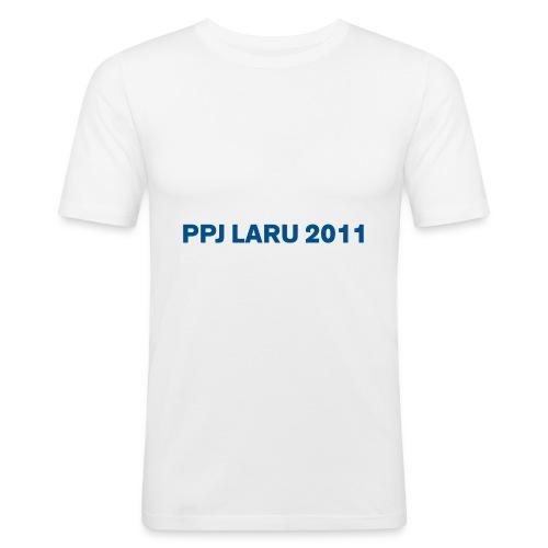 Teksti ilman seuran logoa - Miesten tyköistuva t-paita