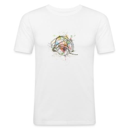DJ Headphones - Männer Slim Fit T-Shirt