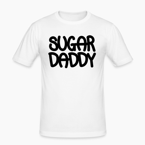 Sugar Daddy Zwart - slim fit T-shirt