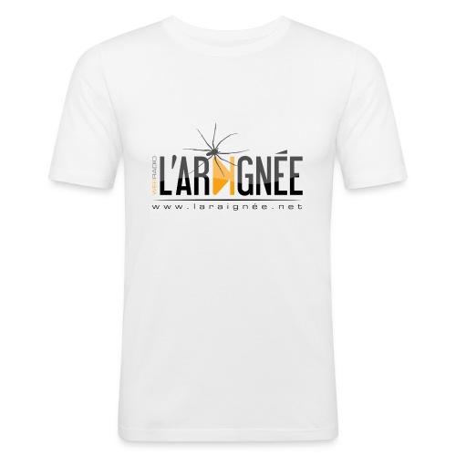 L'ARAIGNÉE, logo noir - T-shirt près du corps Homme