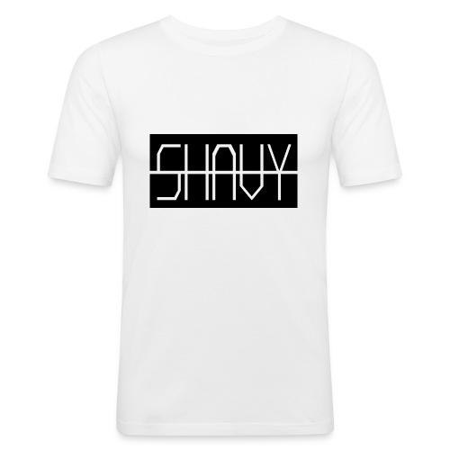 Shavy Rechteck Design black - Männer Slim Fit T-Shirt