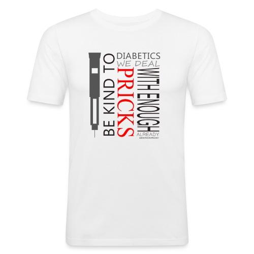 Be Kind To Diabatics - Men's Slim Fit T-Shirt