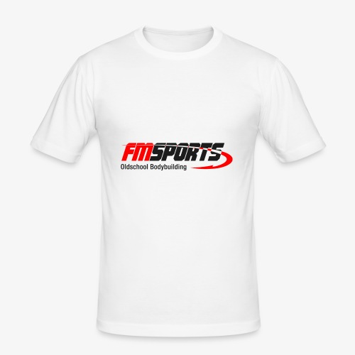 Basic Print heller Untergrund - Männer Slim Fit T-Shirt