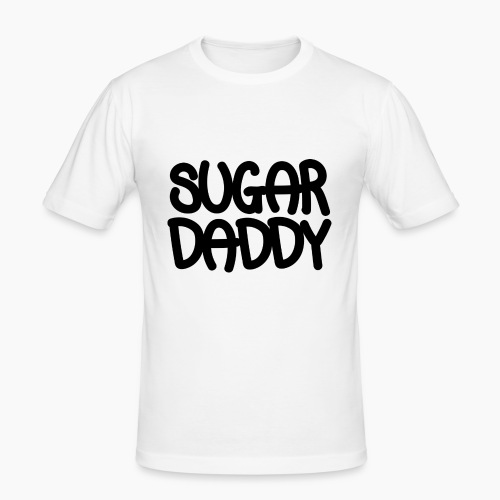Sugar Daddy Zwart - slim fit T-shirt