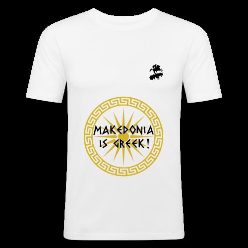 Makedonia is Greek! - Men's Slim Fit T-Shirt