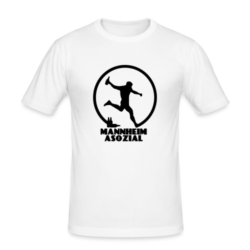 Mannheim Asozial White T - Männer Slim Fit T-Shirt