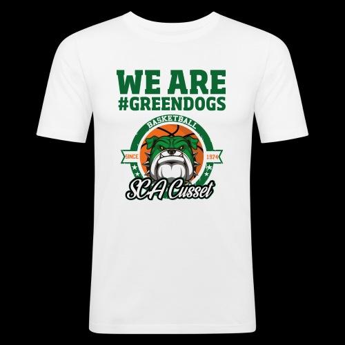 SCA CUSSET WE ARE GREEN - T-shirt près du corps Homme
