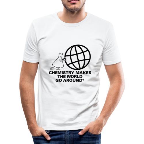 Erlenmeyer dreht die Welt - T-Shirt - Männer Slim Fit T-Shirt