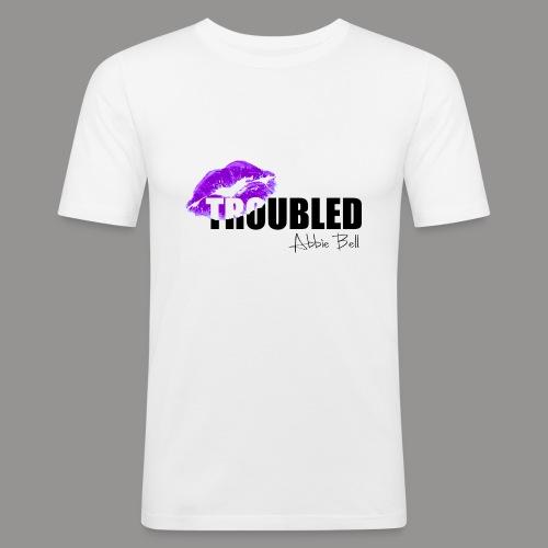 Official TROUBLED blk LOGO - Men's Slim Fit T-Shirt