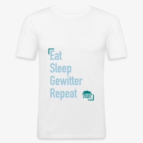 Tagesrhythmus - Männer Slim Fit T-Shirt