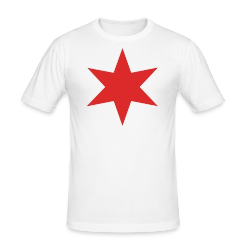 Red Chicago Star - Men's Slim Fit T-Shirt