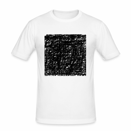 Kritzel-Design - Männer Slim Fit T-Shirt