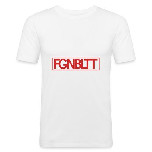 Feigenblatt Logo Rot (Rechteck) - Männer Slim Fit T-Shirt
