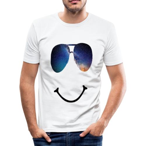Smile-Glasses - Männer Slim Fit T-Shirt