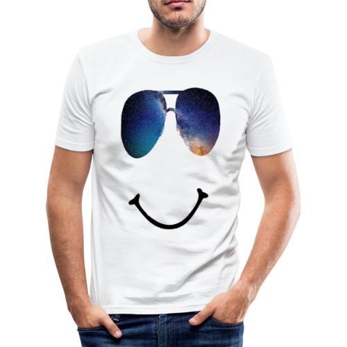 Smile-Glasses - Männer Slim Fit T-Shirt