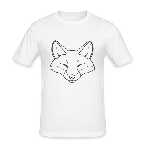Fox logo - Männer Slim Fit T-Shirt