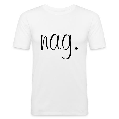 nag logo premium - Männer Slim Fit T-Shirt