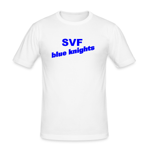 SVF-blue-knights blau - Männer Slim Fit T-Shirt