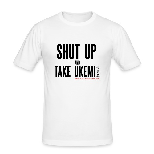 Anniversary T-Shirt Aikido im Hof - Männer Slim Fit T-Shirt