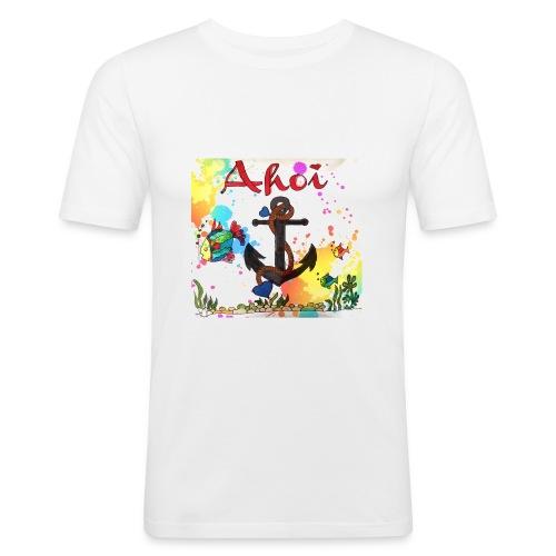 Ahoi mit Anker Design - Männer Slim Fit T-Shirt