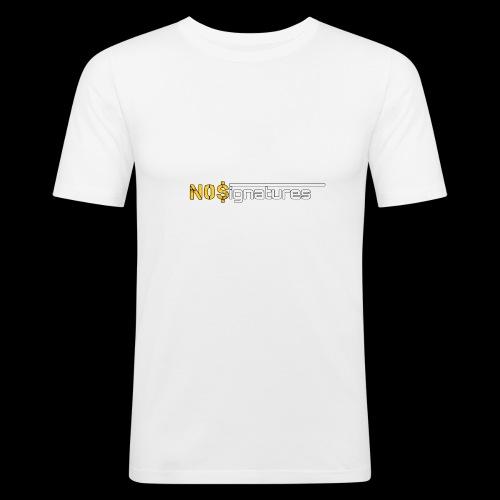 N0$ignatures (nessuna firma) - Maglietta aderente da uomo