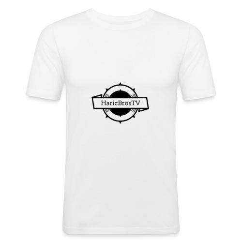 HaricBrosLogo - Männer Slim Fit T-Shirt