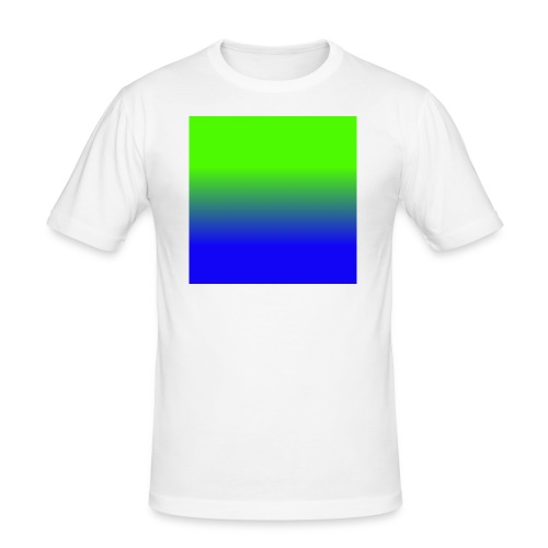 Linear pattern of green and blue - Men's Slim Fit T-Shirt