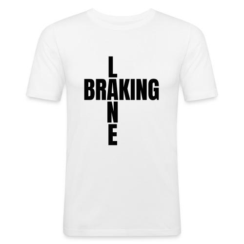 Braking Lane white - Männer Slim Fit T-Shirt