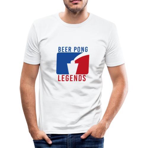 Beer Pong Legends - Männer Slim Fit T-Shirt