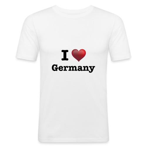 I Love Germany für echte Deutschland Fans - Männer Slim Fit T-Shirt