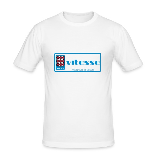 Monaco plate 1977 VITESSE vintage retro - Camiseta ajustada hombre