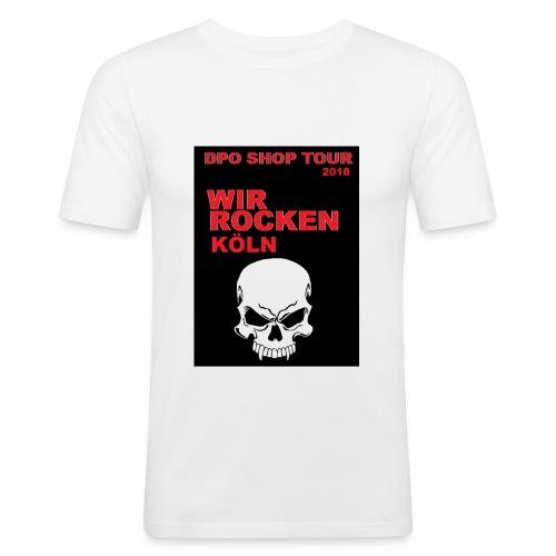 DPO SHOP ABSCHIEDS TOUR 2018 - WIR ROCKEN KÖLN - Männer Slim Fit T-Shirt