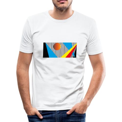abstract - Men's Slim Fit T-Shirt