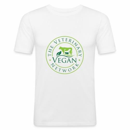 Veterinary Vegan Network Logo - Men's Slim Fit T-Shirt