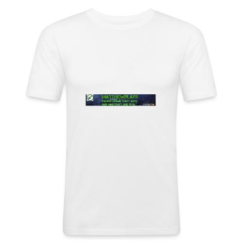 White YouTube Banner Tee - Men's Slim Fit T-Shirt